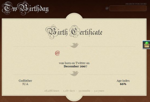 certificate age of a Twitter account
