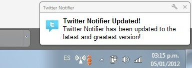 Twitter notifier
