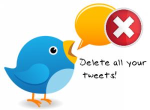 erase all tweets