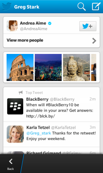 Twitter update apps for BlackBerry10